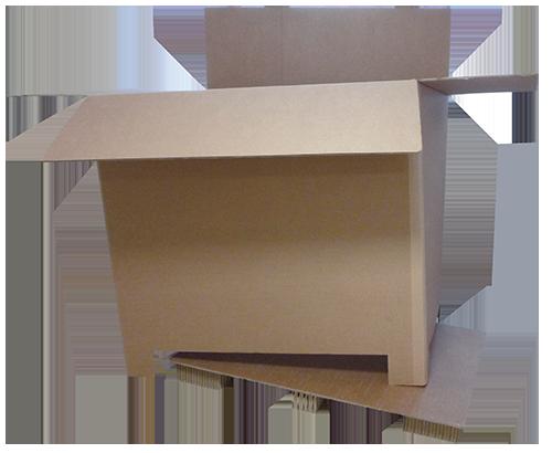 Palette carton absorbeur de chocs
