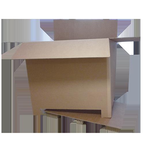 Palette carton avec ceinture et option couvercle Hako Conception