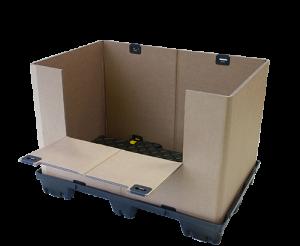 Conteneur carton avec ouverture