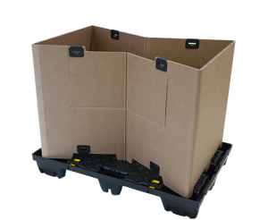 Conteneur carton en 3 étapes